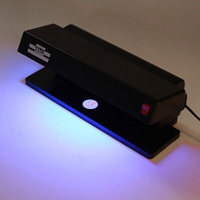 Professional UV Blue Light Counterfeit Bill Currency Fake Money Detector Checker