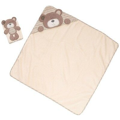 Babies R Us - B Is For Bear: Bear Hooded Towel with Mitt