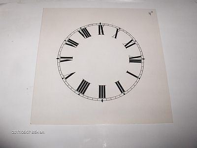 "4 "" Replacement ""ROMAN"" Card Paper Dial, WHITE, LOW GLOSS Finish"