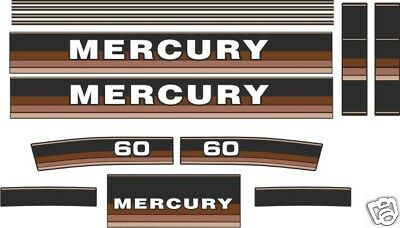 MERCURY 60 DECALS 1984-85 , reproductions, outboard
