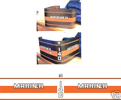 MERCURY MARINER 140 DECALS, MERC OUTBOARD, 90 hp