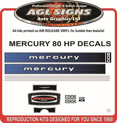 1978 MERCURY 800 DECALS, 80 hp outboard  reproduction sticker