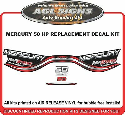 1998 1999 MERCURY 50 hp  FOUR STROKE Outboard Decal Set  Reproductions