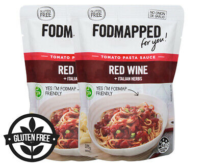 2 x Fodmapped For You Slow Red Wine Tomato Pasta Sauce 375g