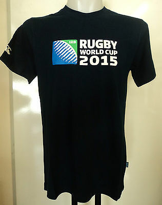Rugby World Cup 2015  S/s Navy Logo Tee Shirt By Canterbury Size Adults Medium