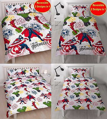 Marvel Avengers Single or Double You Choose - Boys Kids Duvet Quilt Cover Set