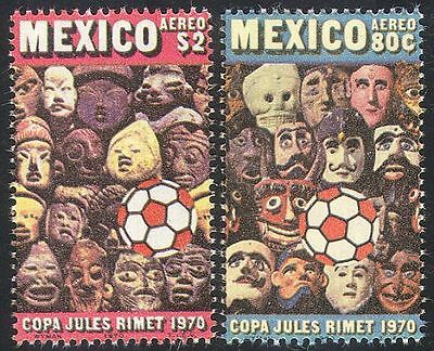 Mexico 1970 Football World Cup Championships/WC/Soccer/Sport/Games 2v set n42042