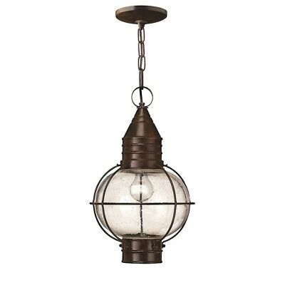 Hinkley Cape Cod 1 Light LED Outdoor Hanging Light, Sienna Bronze - 2202SZ-LED