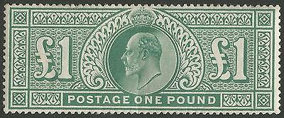 1902 SG266 DLR £1 dull blue green mint never hinged