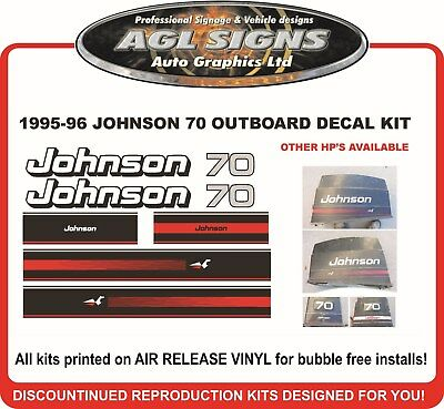 70 hp johnson outboard motor decals