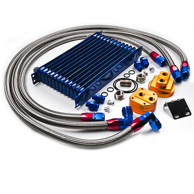 Vw Golf Polo Caddy Beetle Gti An10 10 Row 50Mm Alloy Oil Cooler & Relocation Kit