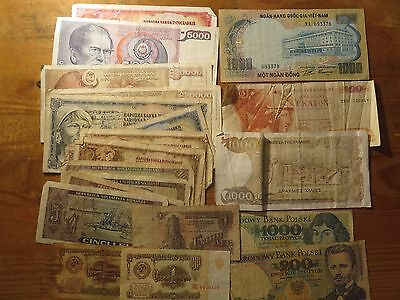 Banknotes of the World Mixed Lot    21  pieces