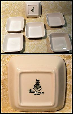 SIX AIR CANADA - ROYAL DOULTON FINE CHINA - Made in England  4 inch White Dishes