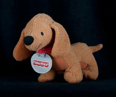 Vtg Plush Fisher Price Puppy Pals Jennie Brown Dachshund Stuffed Dog 2003 11""