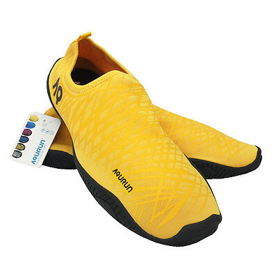 AQURUN Ultra Light Quick Dry Anti-Slip Skin Shoes For Outdoor Water Sport YELLOW