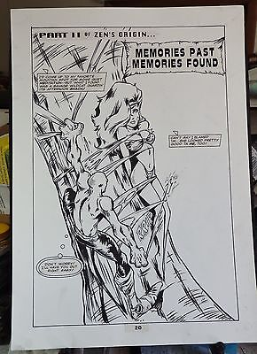 Zen Intergalactic Ninja #2 5-Page Back-Up Story 1993 Original Art-Maus-Young Zen