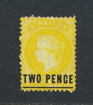 ST HELENA 1873, 2d YELLOW, VF MINT SG#10 (SEE BELOW PART OF GROUP)