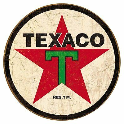 "Texaco 1936 Logo Vintage Round Tin Sign 12"" x 12"""