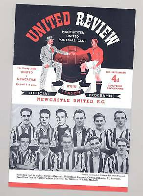 Manchester United Charity Shield 1952 PROGRAMME - POSTFREE TO UK
