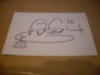 signed card of ex tottenham and england footballer anthony gardner