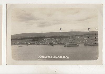 Invergordon Ross-shire Scotland Vintage RP Postcard 626b
