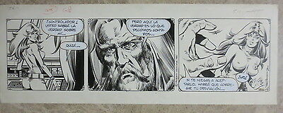 TIRA ORIGINAL AXA nº 1866 / DAILY STRIP AXA ORIGINAL ART ENRIC BADIA ROMERO