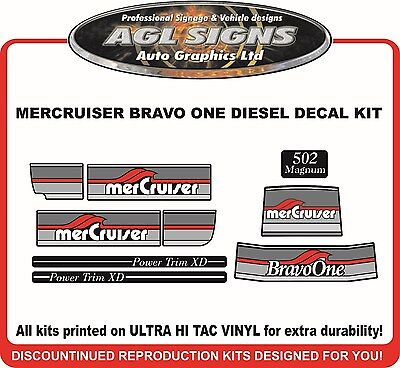 Mercury Bravo One 502 Magnum  Outdrive Decal Kit   Mercruiser