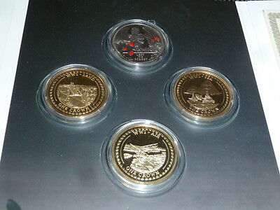 4 x 1914/18 WW1 CROWNS - COMMEMORATIVE COINS