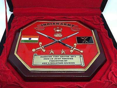 K) India Indian Army 6th Infantry Mountain Garuda Division Joint Exercise Plaque