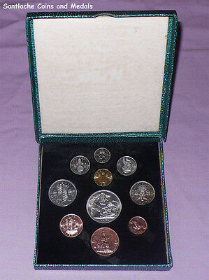 1951 ROYAL MINT KING GEORGE VI PROOF SET COINS - Excellent Example, Choice Case