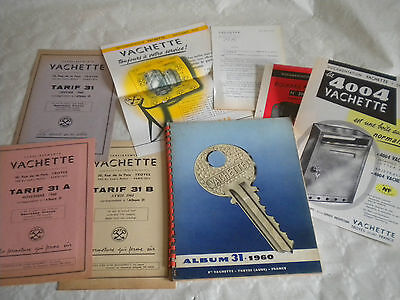 Vintage catalogue Locks and keys Vachette album 31 1960 plus paperwork