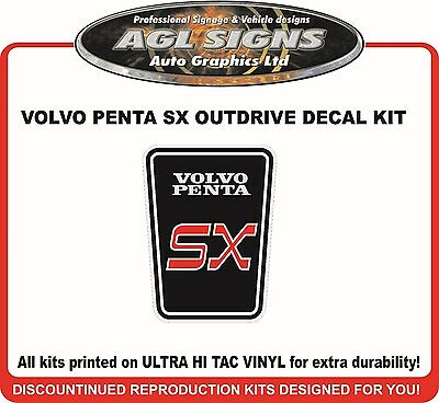 VOLVO PENTA SX  Outdrive Decal Kit  reproductions