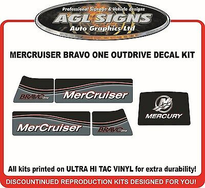 Mercury Bravo One Outdrive  Reproduction Decal Kit   Mercruiser Diesel Azius