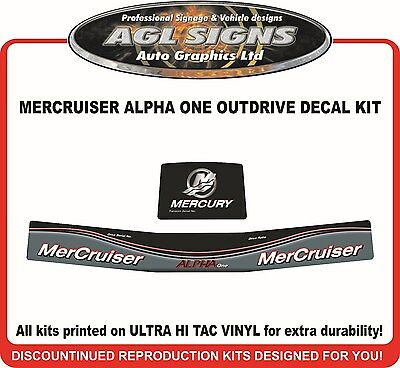 Mercury Alpha One  Outdrive Decal Kit   Mercruiser