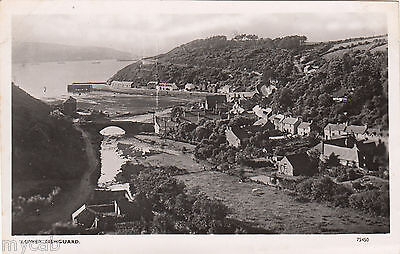 Postcard Lower Fishguard Pembrokeshire Wales early view of houses RP