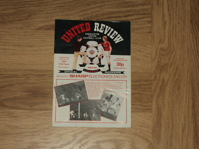 Manchester United v Dukla Prague Football Programme Cup Winners Cup 14.9.83