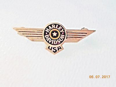 """Harley-Davidson USA Wings 2"""" Wide Vest Fatboy Pin with Allen Screw Fasteners"""