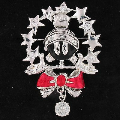 BROOCH PIN 1.93 tcw CZ Marvin The Martian WARNER BROS LOONEY TUNES WB STORE 4037