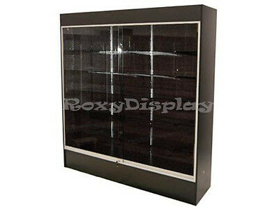 Black Color Wall Display Case KNOCKED DOWN Showcase #WC6B-SC
