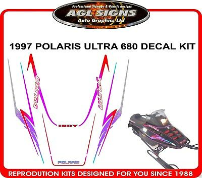 1997 POLARIS ULTRA 680 HOOD DECALS X-12  GRAPHIC STICKER INDY reproduction