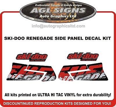 SKI-DOO RENEGADE SIDE PANEL REPLACEMENT DECAL KIT  reproductions graphics
