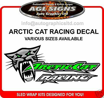 ARCTIC CAT RACING DECAL VARIOUS SIZES graphic sticker ZR XF F5 SNO PRO