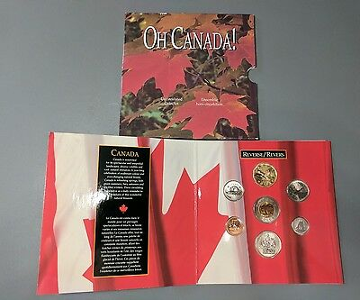 1997 OH CANADA! Seven-Coin Uncirculated Coin Set in Display Folder