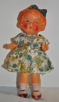 """Sweet 8"""" Painted Bisque Doll - Occupied Japan - All Original!"""