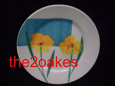 """4 Corelle FIORE BLUE 8-1/2"""" Luncheon Lunch Salad Plates LUXE"""