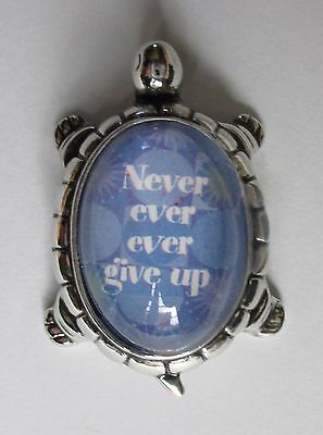 m Never ever ever give up TURTLE CHARM FIGURINE ganz hope faith encouragement