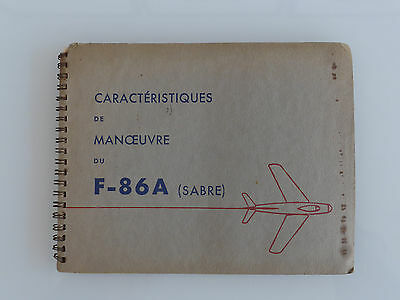 Avions à réaction, armée, doc. confidentiel, Sabre, 1950,  provenance Glavany !