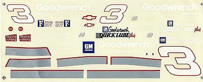 Nascar Decal # 3 Goodwrench 1995 Monte Carlo - Dale Earnhardt -1/24