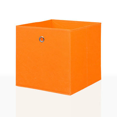 Faltbox 6er Set Orange 34 x 34 cm Faltkiste Regalkorb Regalbox Aufbewahrungsbox