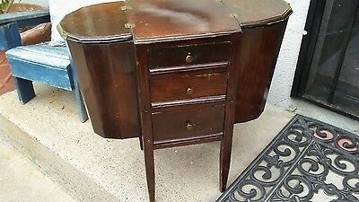 Antique Victorian Sewing/needle Work Storage Table